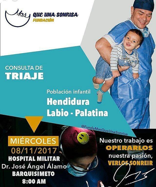 Atención #Barquisimeto repostear también es una manera de ayudar #Repost @fundamasqueunasonrisa (@get_repost)  Gran triaje dirigido a la población infantil con labio y paladar hendido evaluación diagnóstico y selección de pacientes para los próximos días quirúrgicos. Te esperamos en el hospital militar Dr. José Angel Alamo de Barquisimeto Fundación más que una sonrisa y @hospimilara con el apoyo de los cirujanos:  Dr. Julio Linares  @drjuliolinares  Dr Orlando Reyes  @drreyes_ccs  Dra. Maria…