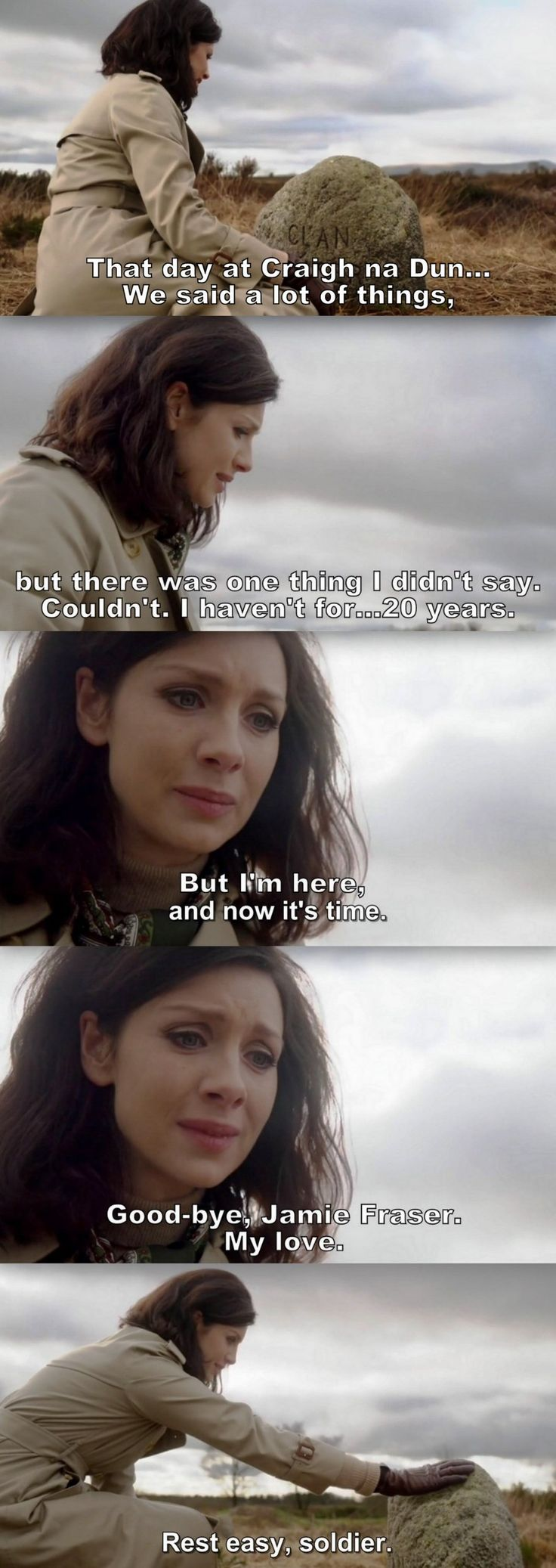 There's no real goodbye between Jamie and Claire. They always find each other again.