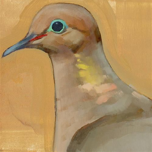 Daily paintworks commission mourning dove for Original fine art paintings for sale