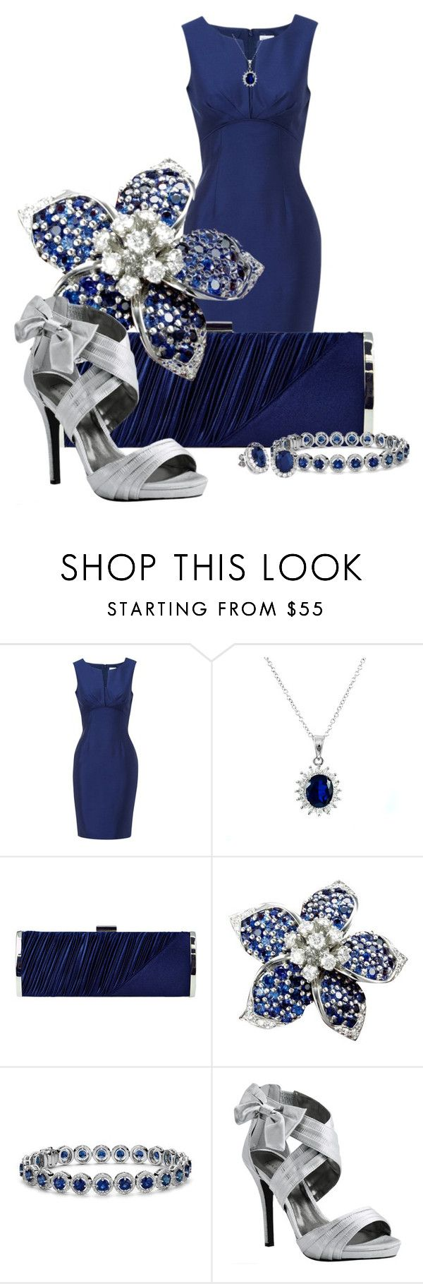 Sapphire by happygirljlc on Polyvore featuring Hobbs, Luichiny, Jessica McClintock, Buccellati and Blue Nile