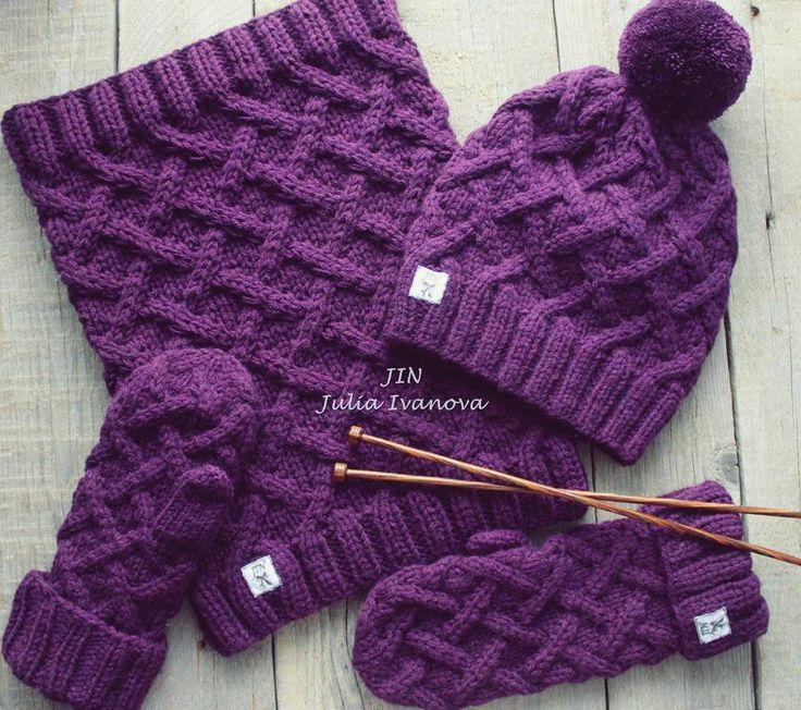 Комплект шапка/варежки/снуд помпон съёмный состав пряжи - шерсть мерино/альпака/полиамид/шёлк р-р шапочки 55-60 см, чуть удлиннённая снуд и варежки - стандарт ____________________________ #HandmadeJIN #handknit #knitting #knitwear #питер #одежда #design #тиффани #марсала #купить #продажа #комплект #вналичии #зима #снег #градиент #ручнаяработа #аксессуары #вязание #sale #вязаниеспицами #шапка #снуд #варежки #распродажа #шерсть #осень #зимнийкомплект