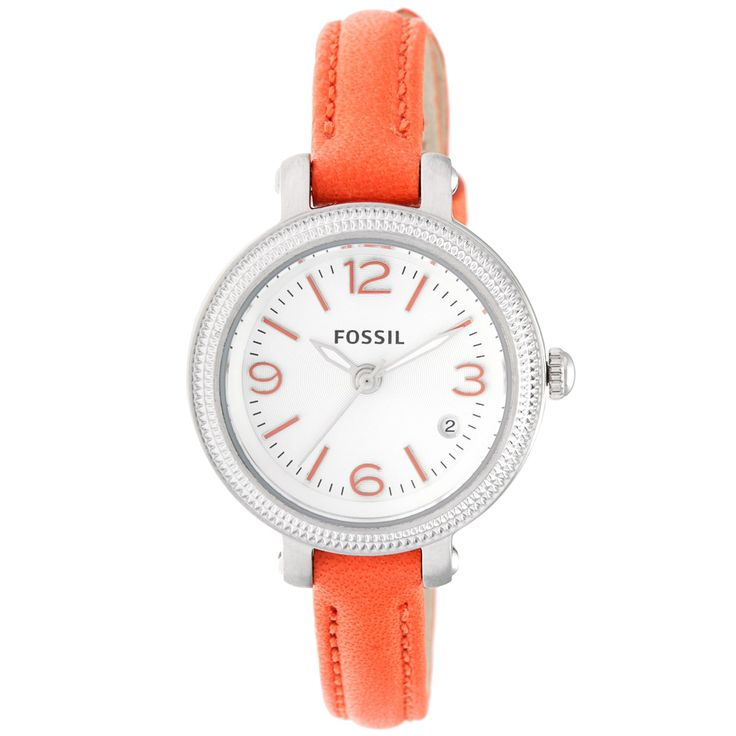 Fossil Women's 'Heather' Orange Skinny Strap Watch