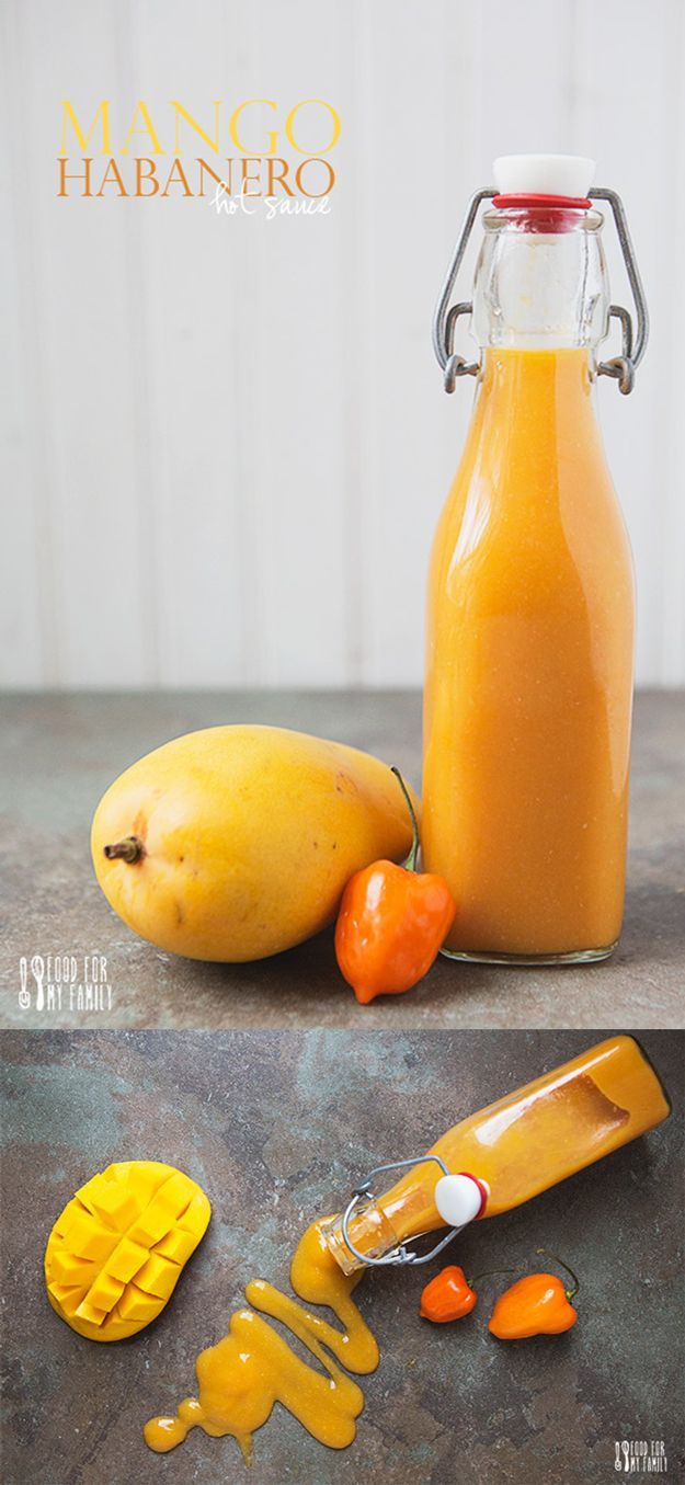Delicious Mango Habanero Hot Sauce | Homemade Habanero Hot Sauce Ideas by DIY Ready at http://diyready.com/top-14-hot-sauce-recipes/