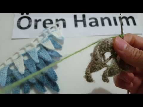 Üçgen yaprak şal yapımı - YouTube
