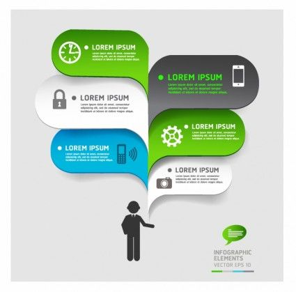 Modern business bubble speech template style