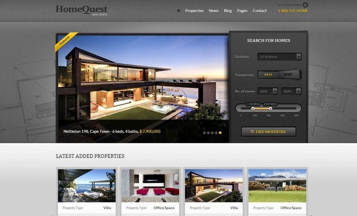 Real Estate WordPress Theme Home Quest
