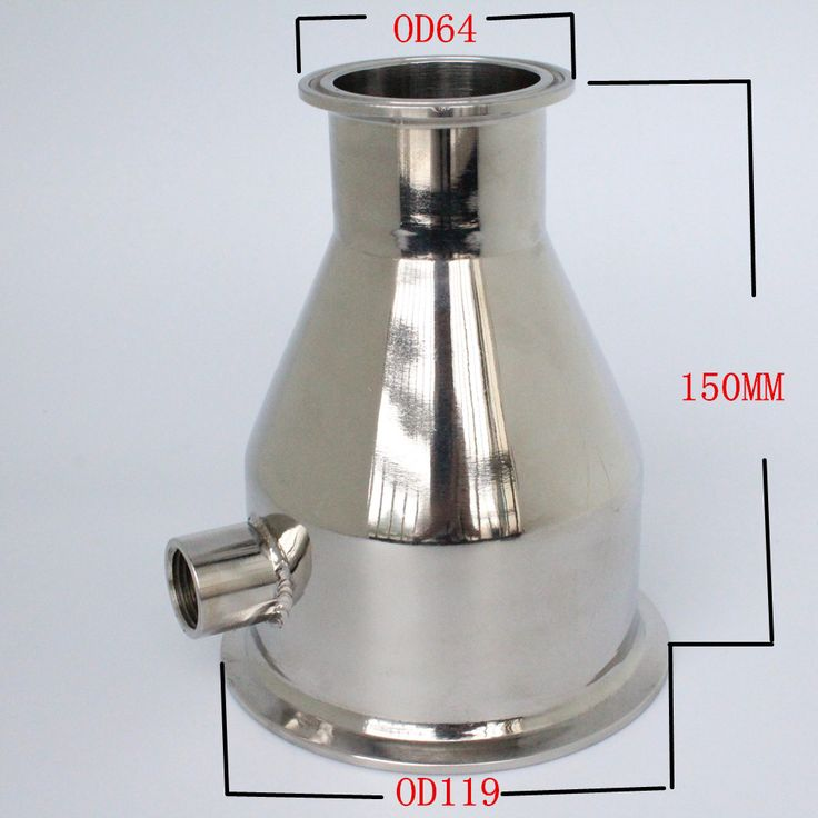 """==> [Free Shipping] Buy Best Tri- Clamp Reducer 4 """"(102mm) OD 119 x 2"""" (51mm) OD64 SS 304 Stainless Steel Internal thread 1/2"""" Height 150 Online with LOWEST Price   32813336607"""