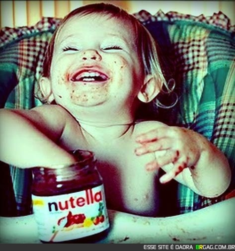 The Nutella effect-my daughter Jennifer would so do this!Eating Nutella, Happy Baby, Funny, Children, Baby Girls, Future Kids, Things, Smile, Jars
