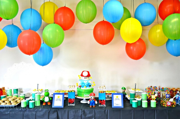CUTE - use those bouncy balloon ball thingys instead of regular balloons & give away as favors..