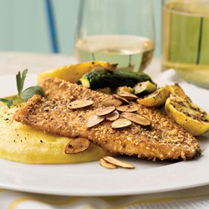 Almond-Crusted Tilapia is a simple seafood supper with just six ingredients. If you don't have a skillet large enough to hold all the fillets comfortably, we recommend cooking them in batches. You can substitute catfish, flounder, or orange roughy for tilapia.