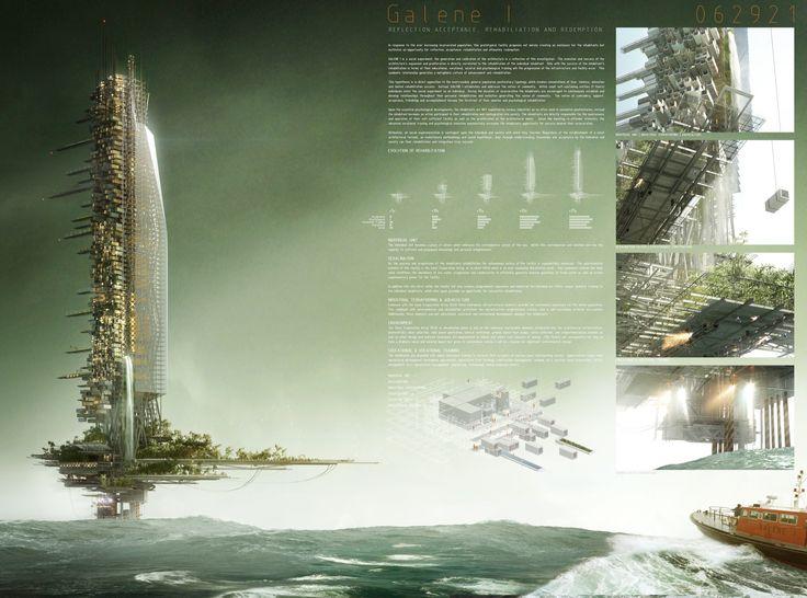 "[A3N] : ""New Ocean Platform Prison Architectural Competition"" /  Honorable mention: Michael Gloudeman & Michael Kafassis  / France"