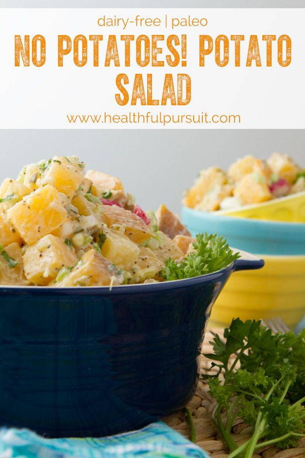 No Potatoes! Potato Salad - (Paleo, Gluten-free, Dairy-free, Yeast-free, Corn-free, Grain-free, Nut-free recipe)