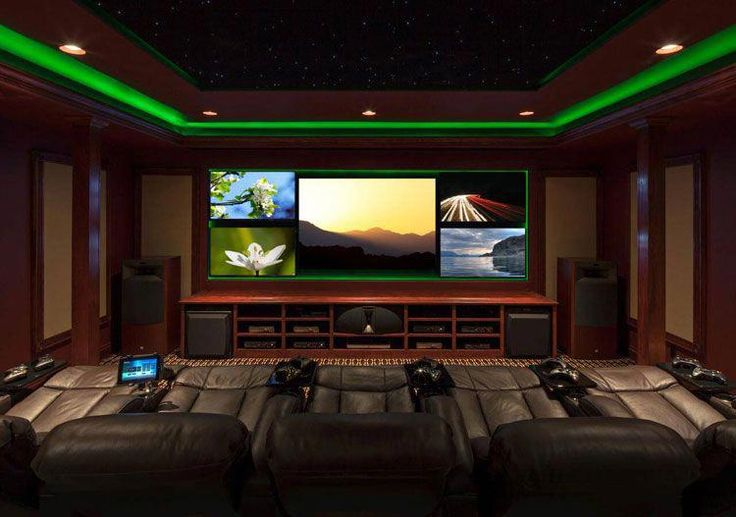 Luxury Video Gamer Room Designs with Green Lighting and Big Screen TV – Best Video Game Room Ideas: Cool Gaming Setup Designs, Gamer Room Decor, and A…