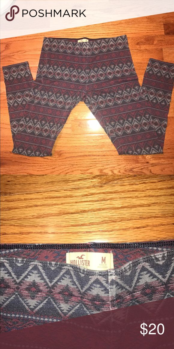 Hollister Leggings Size medium never worn leggings. Super cute, and in perfect condition. Hollister Pants Leggings