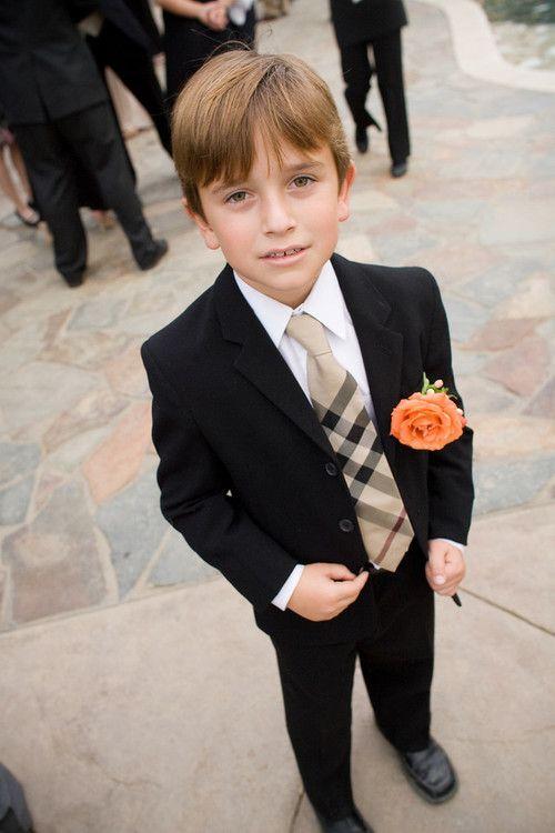 Ring Bearer in Burberry tie {So Eventful}