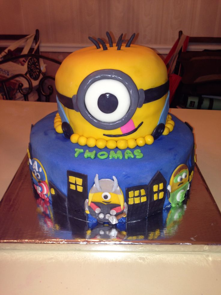 Super Hero Minion Cake