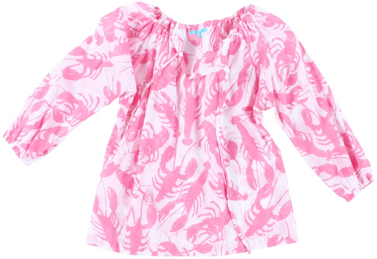 pink & white lobster shirt | virginia johnson