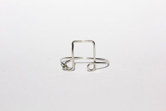 Silver Music Note Wire Ring by MeekAndNeek on Etsy