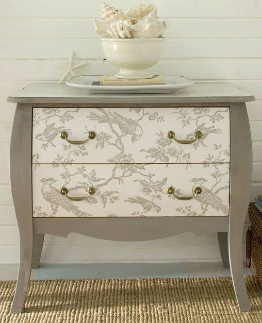 DIY Project of the Week - Wallpaper your furniture! :: Hometalk