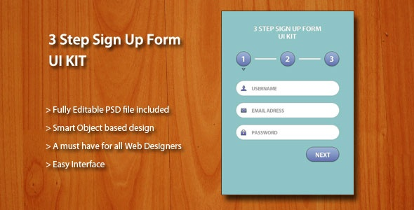 Sign Up UI Kit psd #template on #graphicmonk