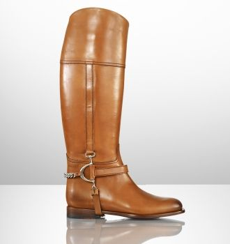 Ralph Lauren - Sandra Calf Chain Riding Boot