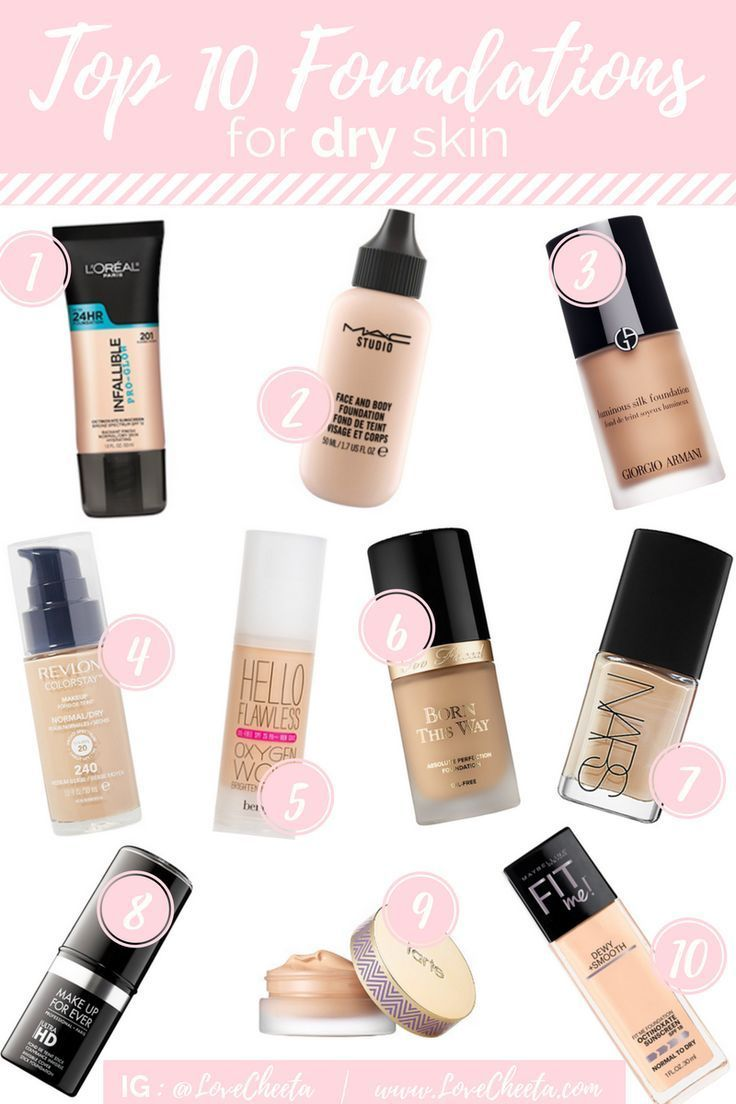 If you have excessively dry skin applying foundation can
