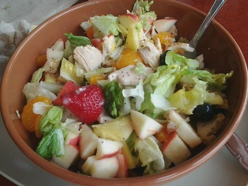 Healthy Dining out! strawberry poppyseed salad from Panera. Gluten free!