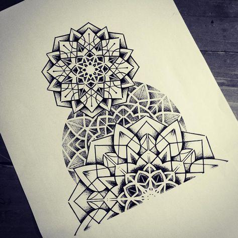 #mandala #dotwork #geometry