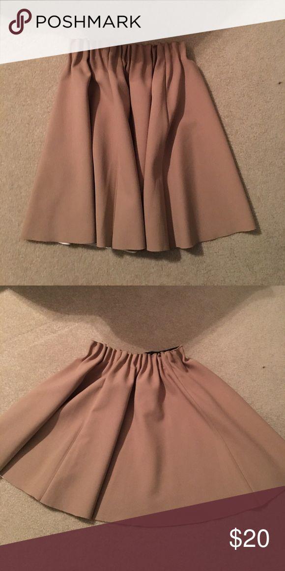 Zara skirt Nude Zara skirt Zara Skirts Mini