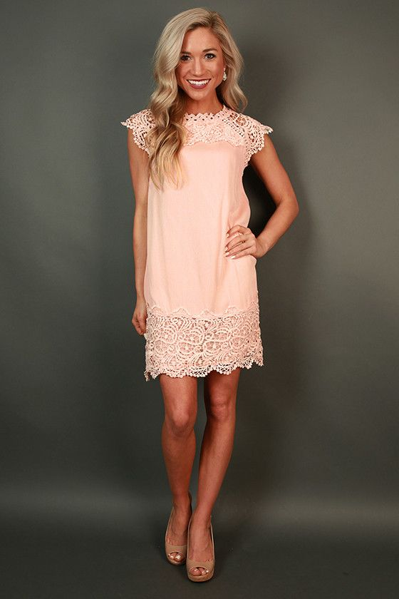 Livin' For The Weekend Crochet Dress in Rose Quartz