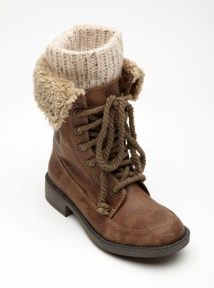 Sweater-topped boots