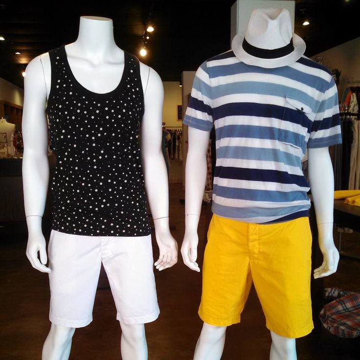 French Connection head to toe for the men! #frenchconnection #stripes #polkadots #shorts #shophouseofsage www.houseofsage.com www.facebook.com/shophouseofsage