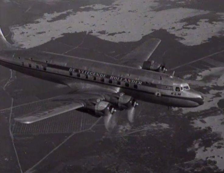 'De Vliegende Hollander' (the Flying Dutchman), a KLM DC-6 from 1948. CC-BY-SA Open Beelden