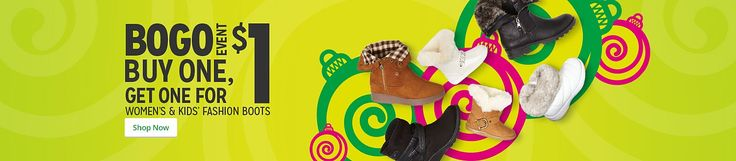 #BOGO $1 #Women's and #Kids' #Boots #coupons #Sale  #discount