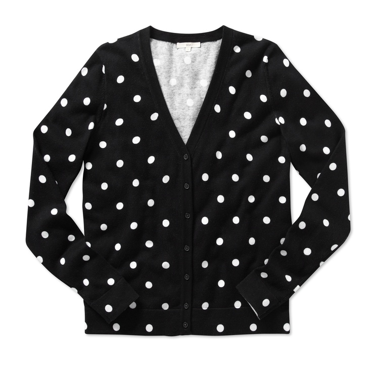 Mix Apparel - Polka dot cardigan black