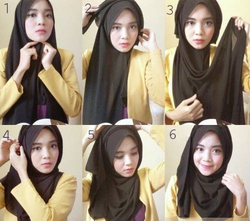 hijab styles step by step simple - Google Search