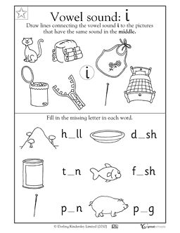 Vowel sounds: i | Reading activities | Vowel sounds ...