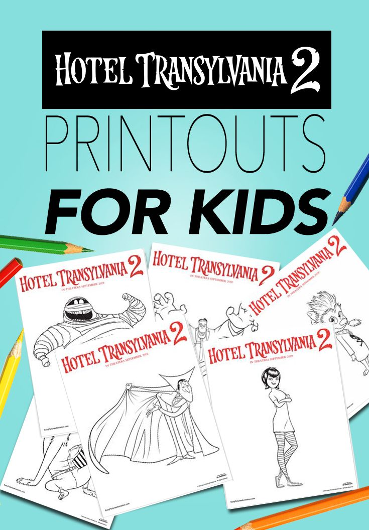 If your kids like coloring as much as my boy does, our Hotel Transylvania 2 printouts will come in handy. Find them all on my Activities for Pups Pinterest board! - #HotelT2 in theaters Sept 25
