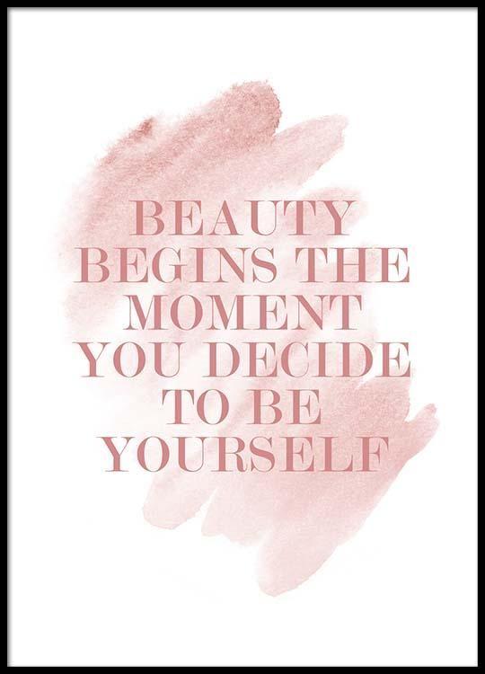 Beauty begins Poster in de groep Posters / Afmetingen / 50x70cm bij Desenio AB (2647)