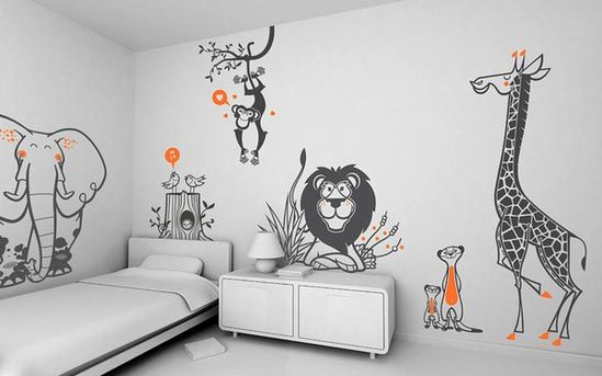giant wall stickers sets savanna themes : Photos, Pictures, Ideas