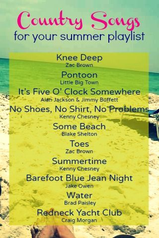 southern state of mind: {Summer State of Mind} 10 Must Have Country Songs for Your Summer Playlist
