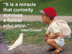 Einstein knew a lot about unschooling.