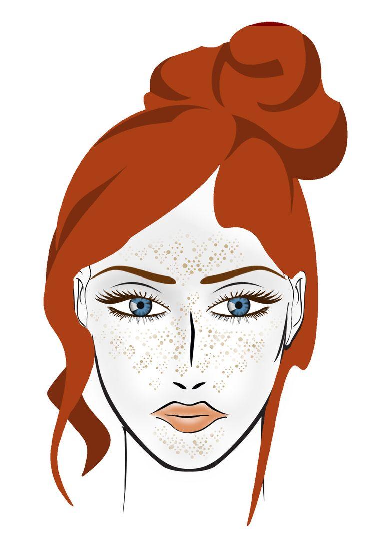 JESIEŃ Cera: jasna, blada z piegami, wrażliwa na słońce Oczy: brązowe lub zielone Włosy: gęste i mocne, najczęściej kasztanowe lub rude. Makijaż: Przy jesiennym typie urody doskonale sprawdzą się odcienie brązu, zieleni, pomarańczu czy miedzi. Unikamy szarości, czerni, odcieni niebieskiego, a w szczególności różu.