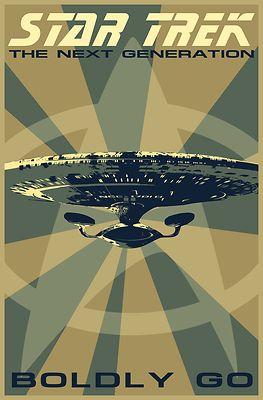 Retro Star Trek: The Next Generation Poster – Celebrate your love for Star Trek:…
