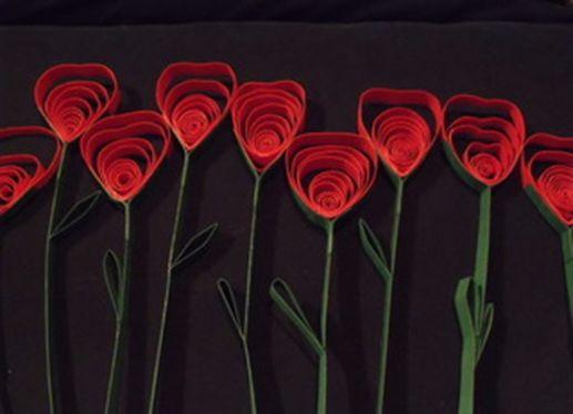Rosas de cartulina 6