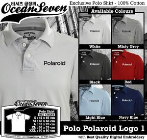 Kaos Polo Polaroid Logo 1 - PIN BB: 26460DF6