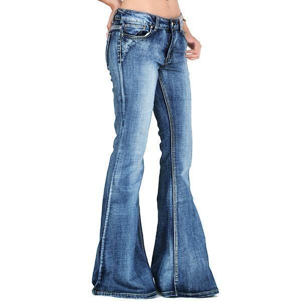 60s Faded Denim Hip Hugger Bell Bottoms Jeans Foreverpants In 2020 Bell Bottom Jeans Bell Bottoms Elastic Waist Jeans