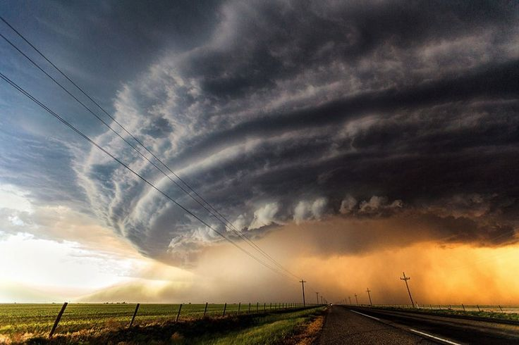 Storm chaser Marko Korosec, 31, was on an expedition in the USA for 26 days when he came across these menacing storm clouds, gathered over g...