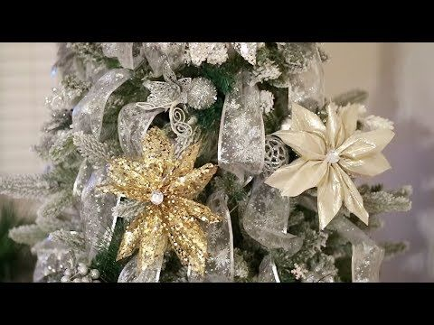 DIY Ribbon Flower Poinsettias  Dollar Tree - YouTube