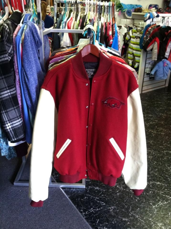 Razorback Letterman Jacket XL $25.00. In stores only or contact us on Facebook.